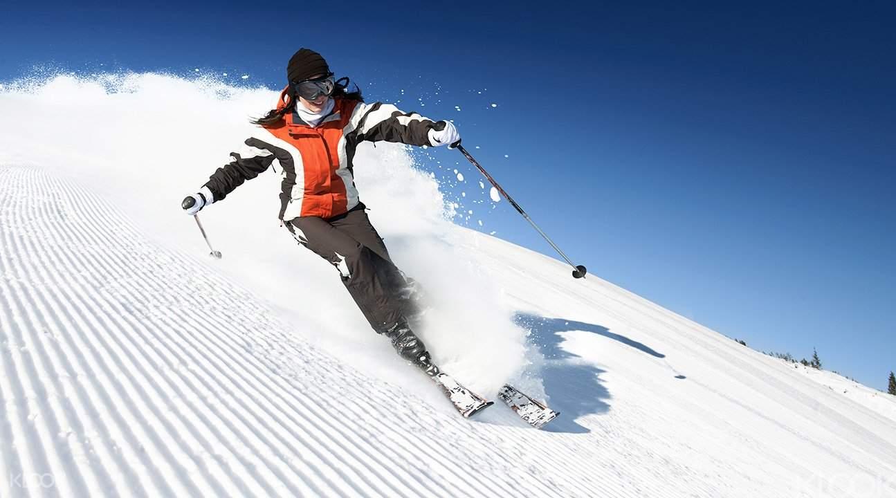 初次尝试粉雪滑雪的你体验到其中的美妙了吗?