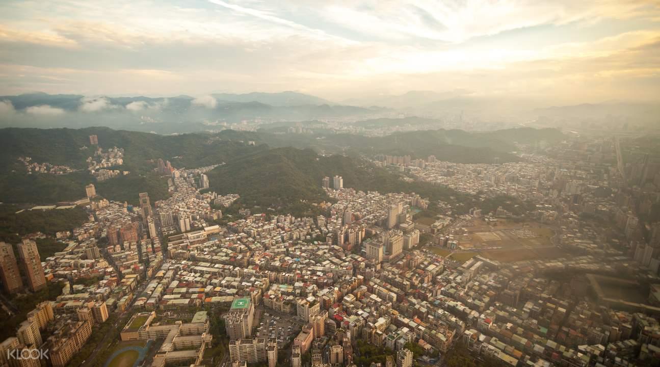 台北101觀景台美景