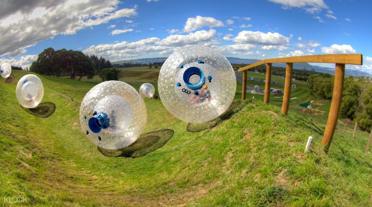 ogo inflatable balls in Sidewinder track