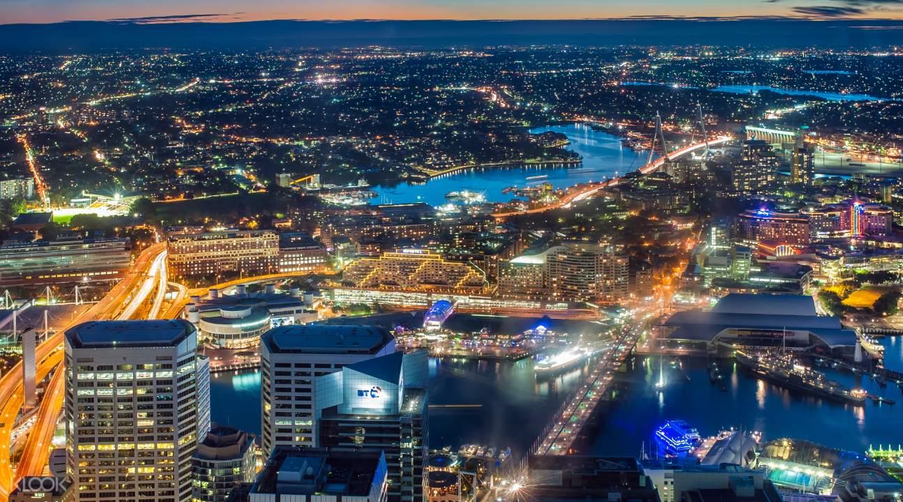 sunset sydney tower eye admission
