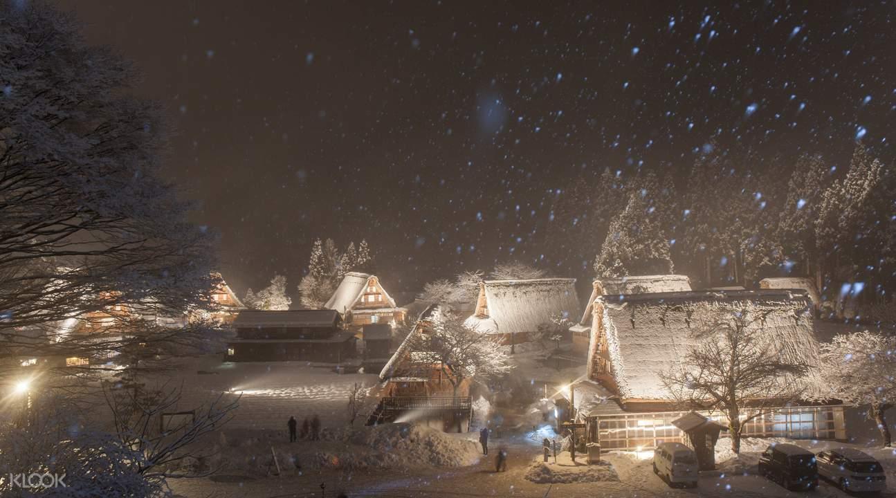 things to do in japan, illumination tour gokayama