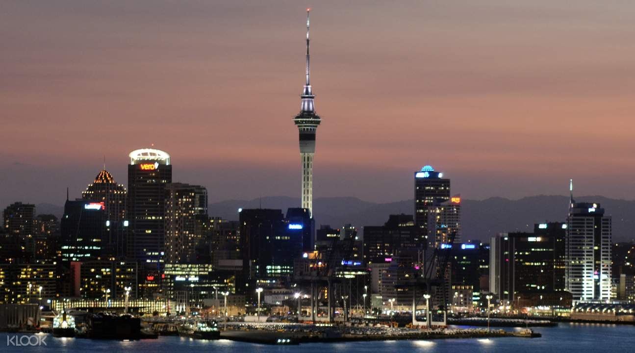 Auckland Sky Tower at Dusk