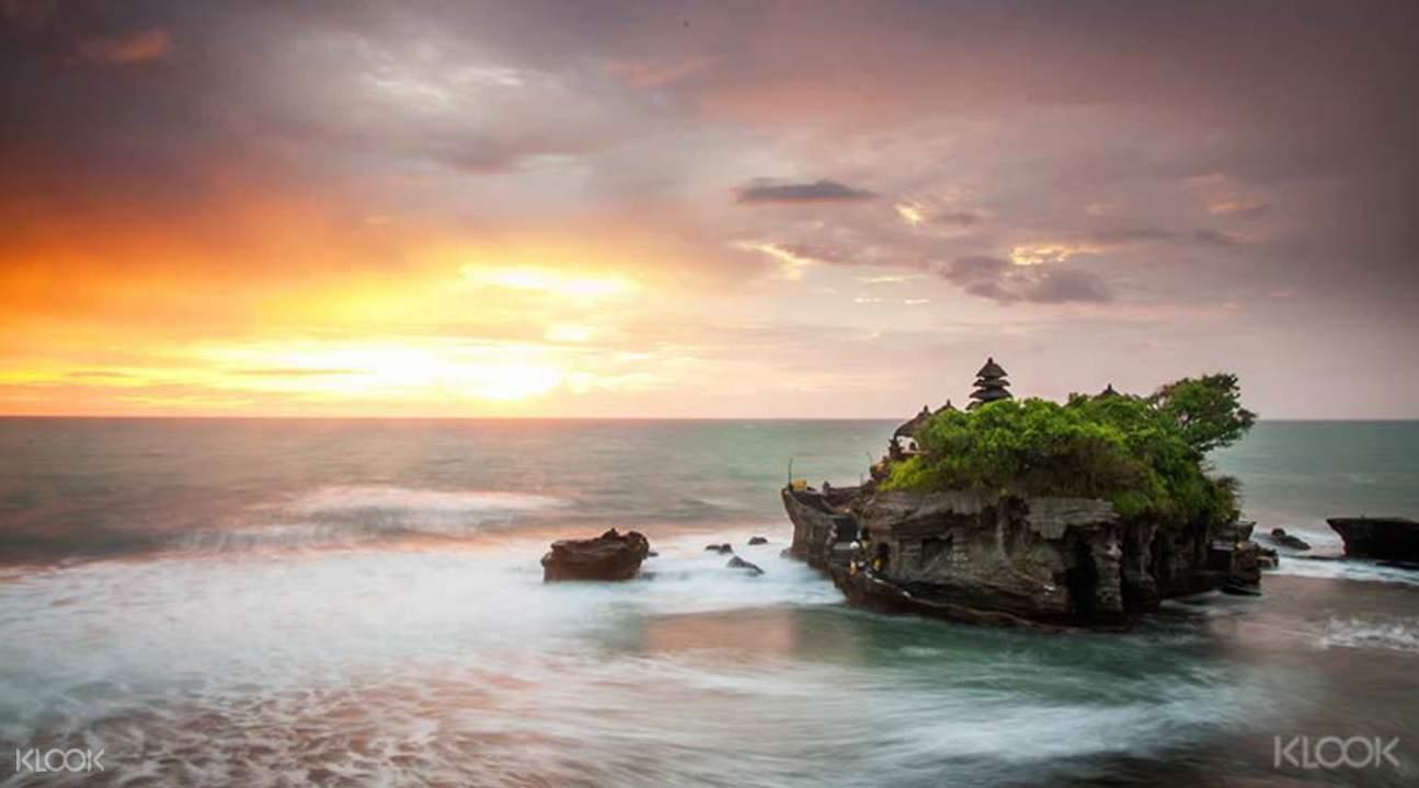 海神廟臨海壯麗落霞