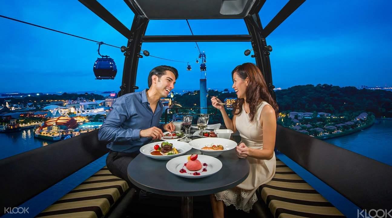 新加坡缆车空中晚宴