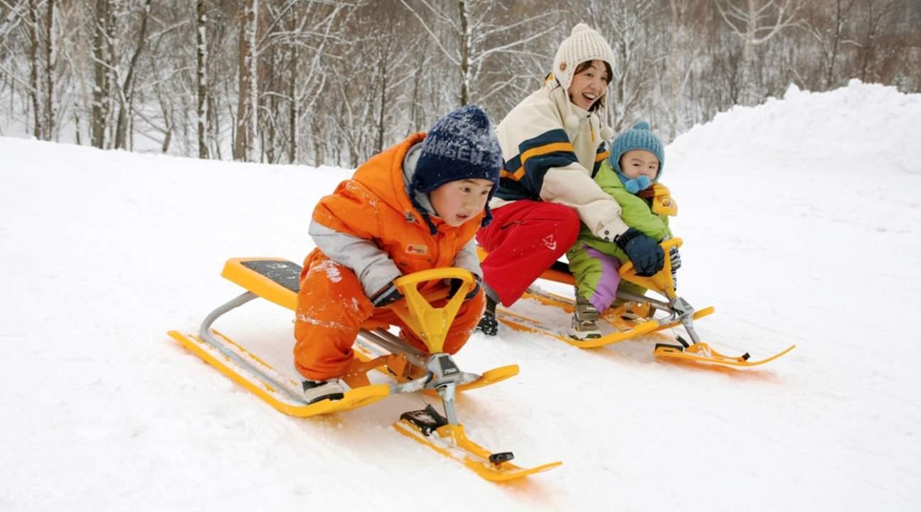 snow mobiles kiroro snow park