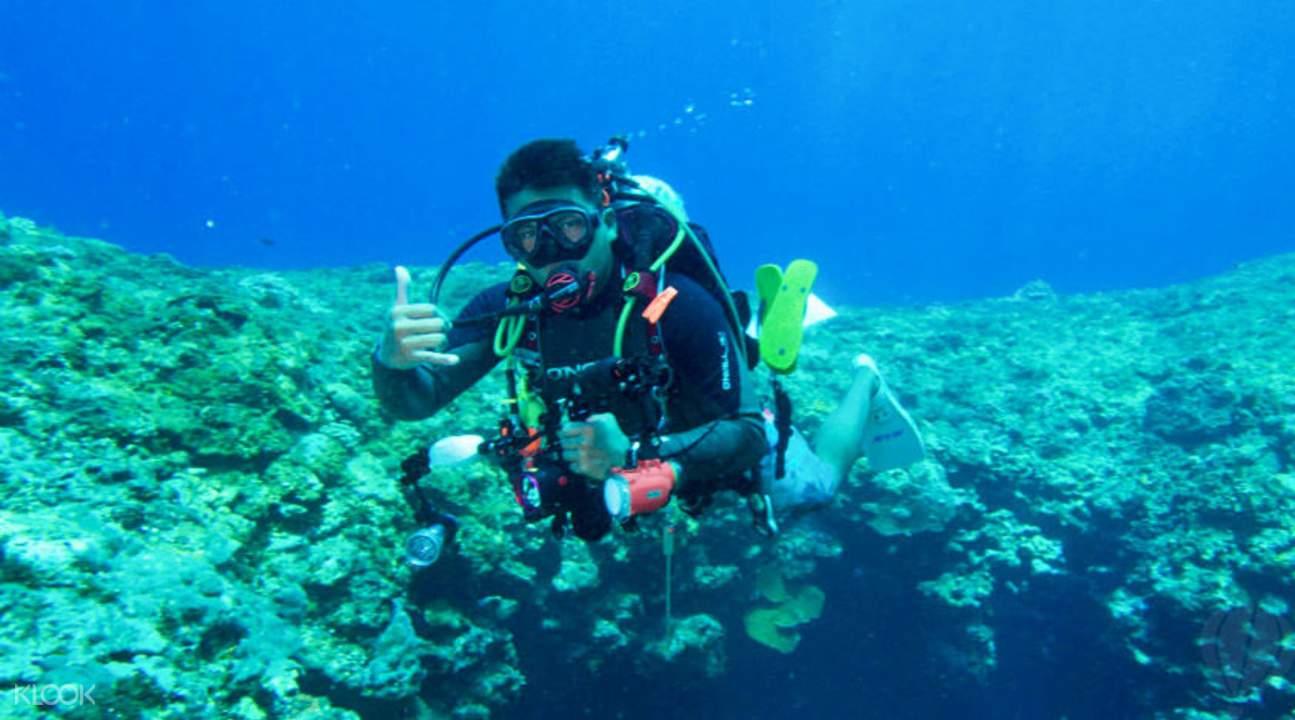 私人教练水肺岸潜