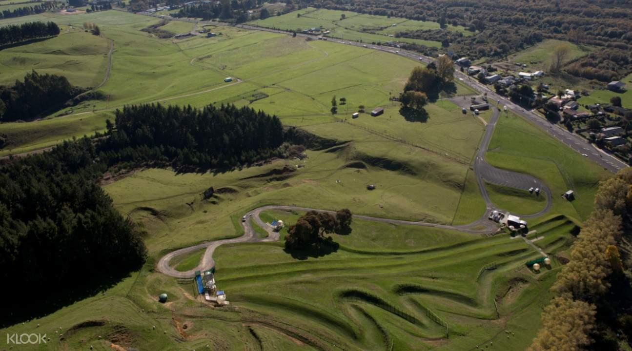 Birds eye view of the ogo courses