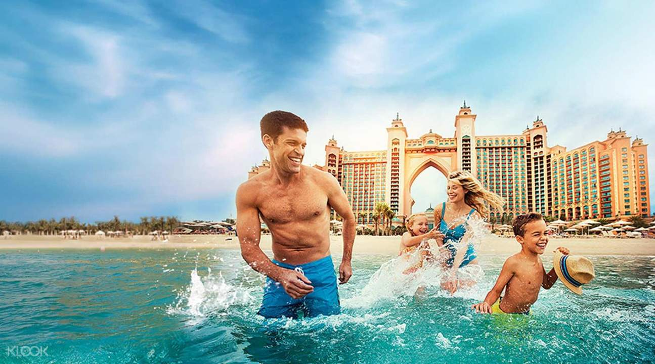 private beach atlantis dubai palm island