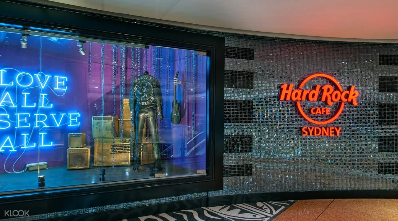 hard rock cafe sydney menu