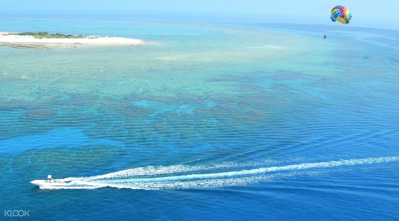 冲绳那霸 海上拖曳伞