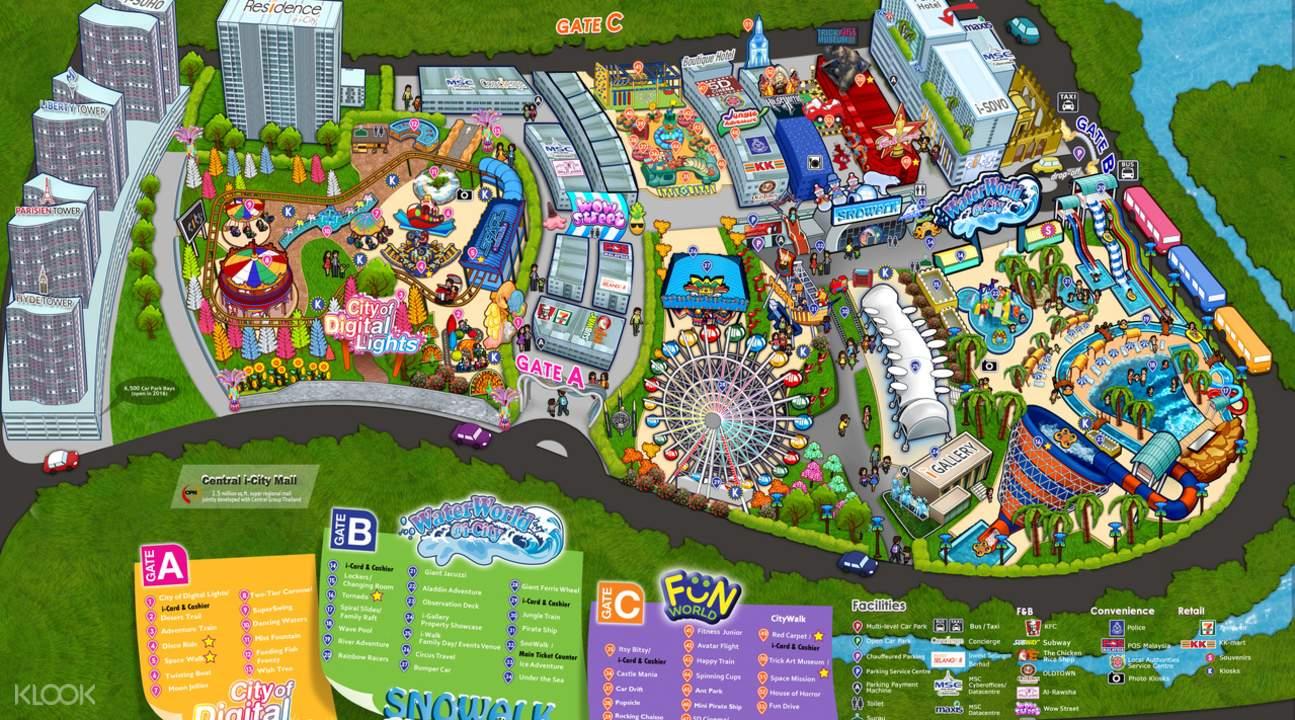 i-City马来西亚主题公园观光地图