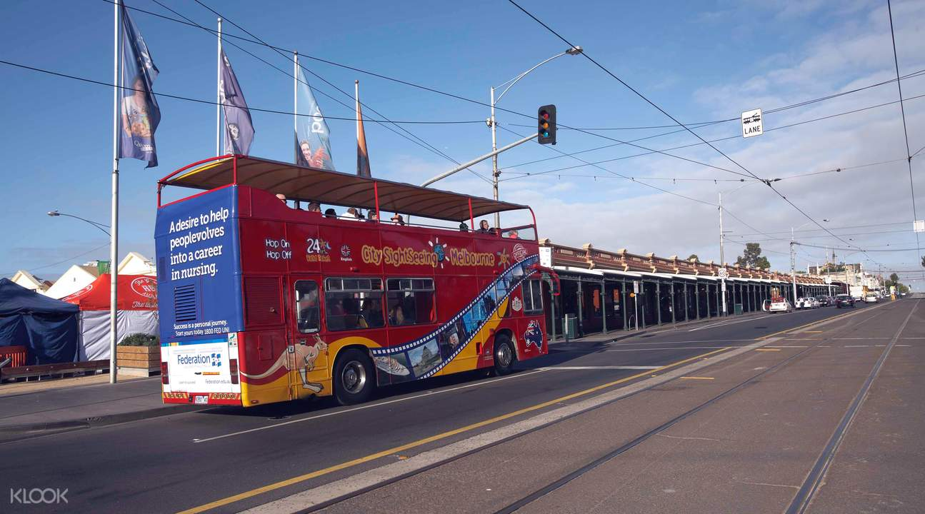 sightseeing bus through road