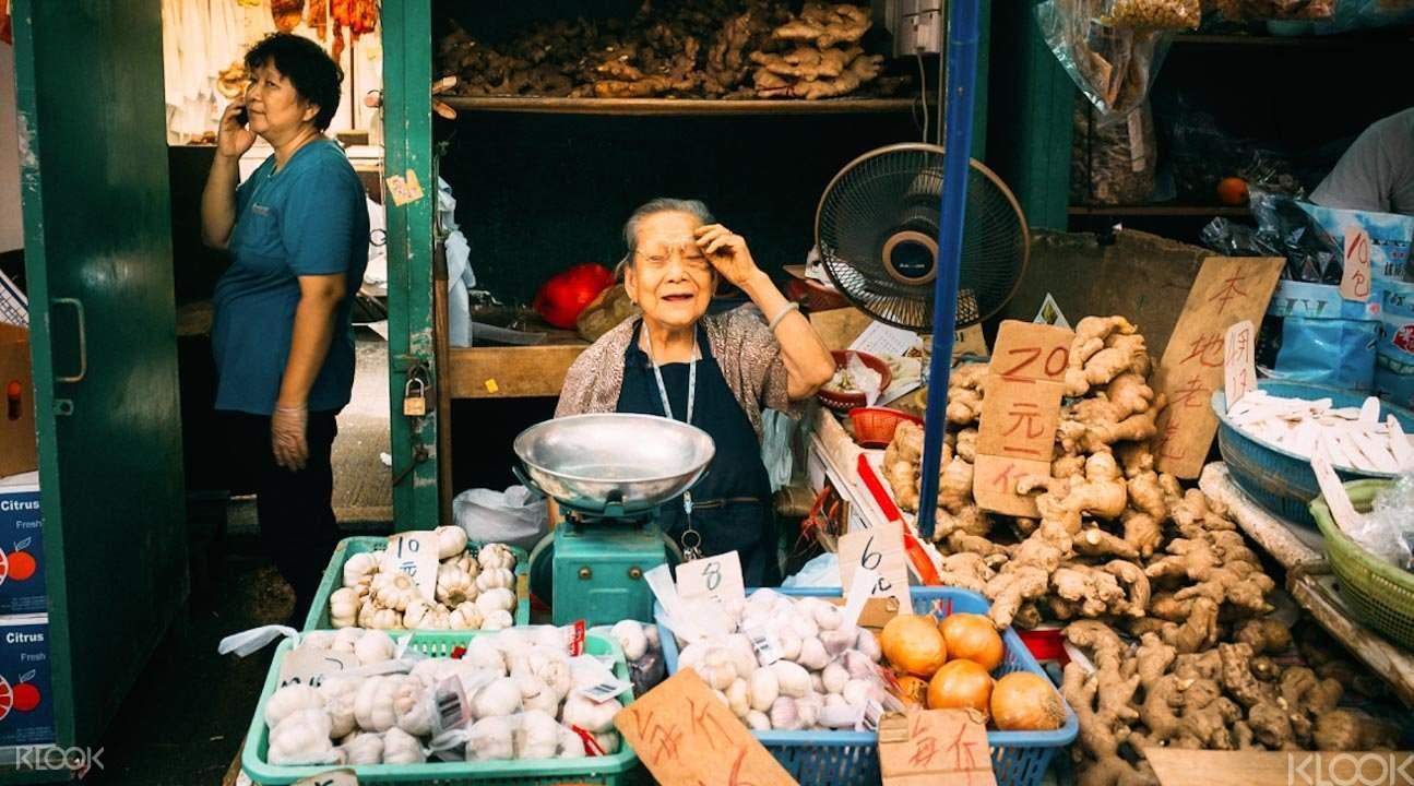 Mong Kok market seller