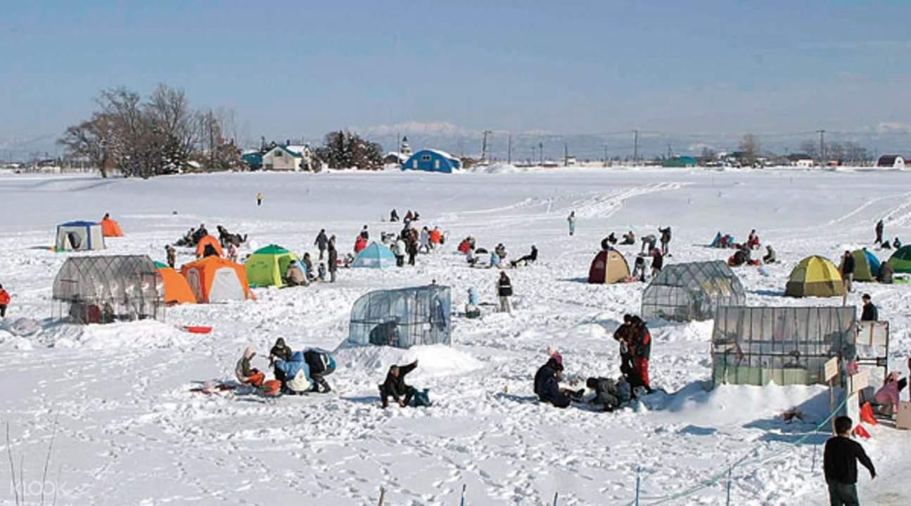 北海道 新筱津湖 冰上釣魚
