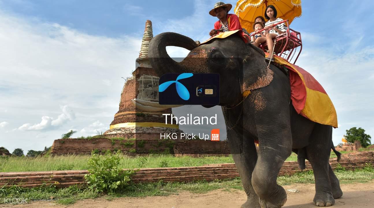 泰國4G/3G 電話卡 (香港機場領取)