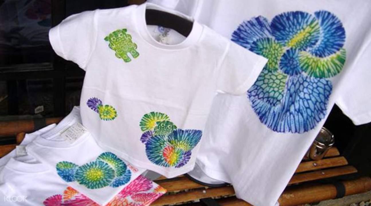 琉染图案的T恤