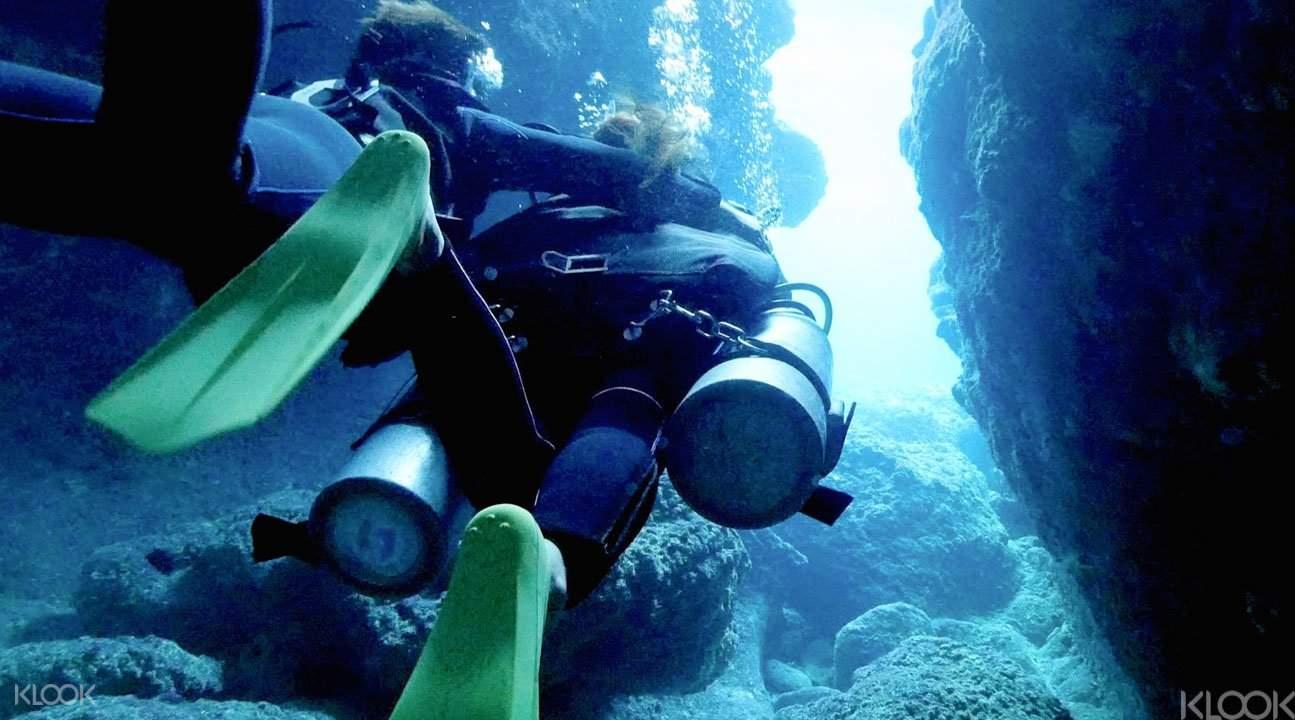 冲绳青洞潜水2