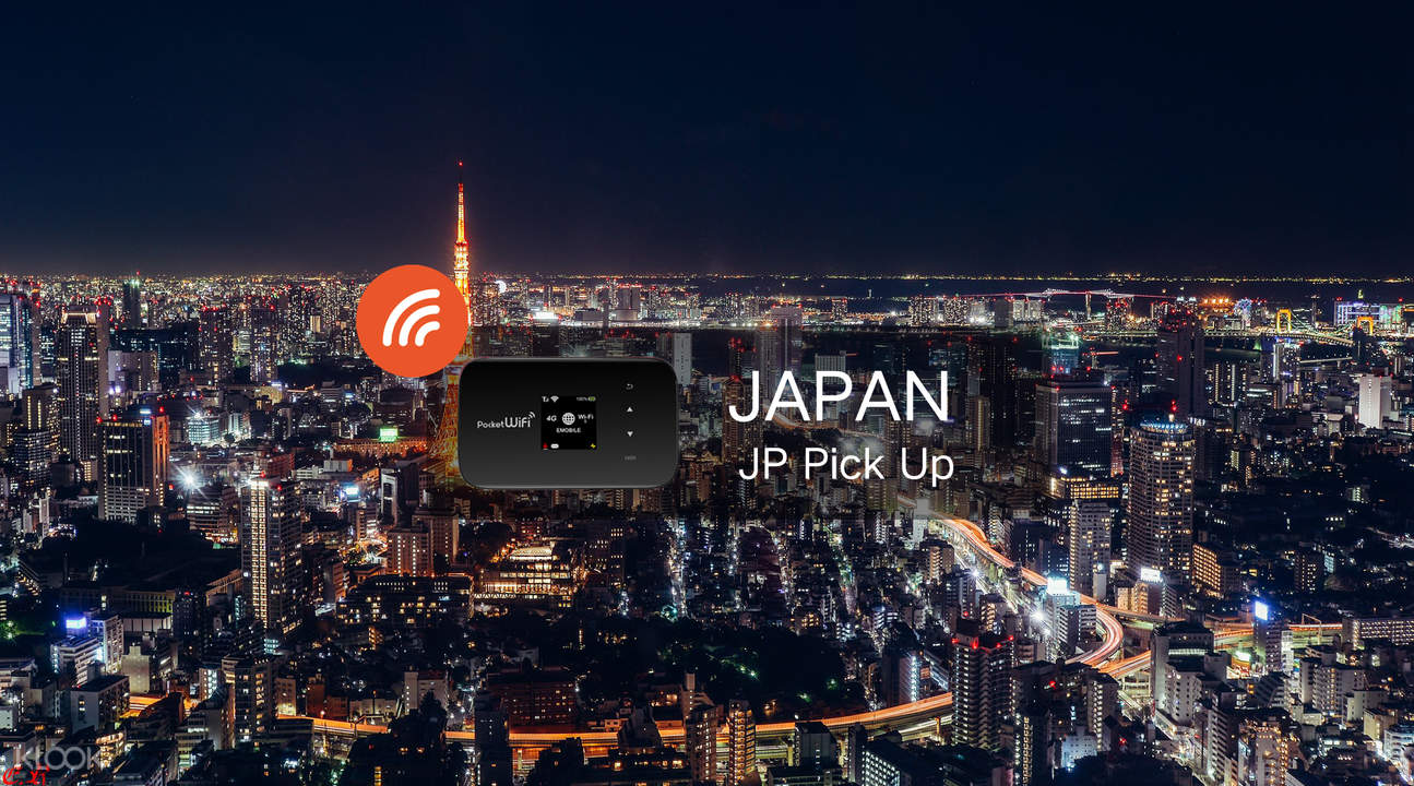 4G Portable WiFi Rental with 7GB data for Japan (JP Pick