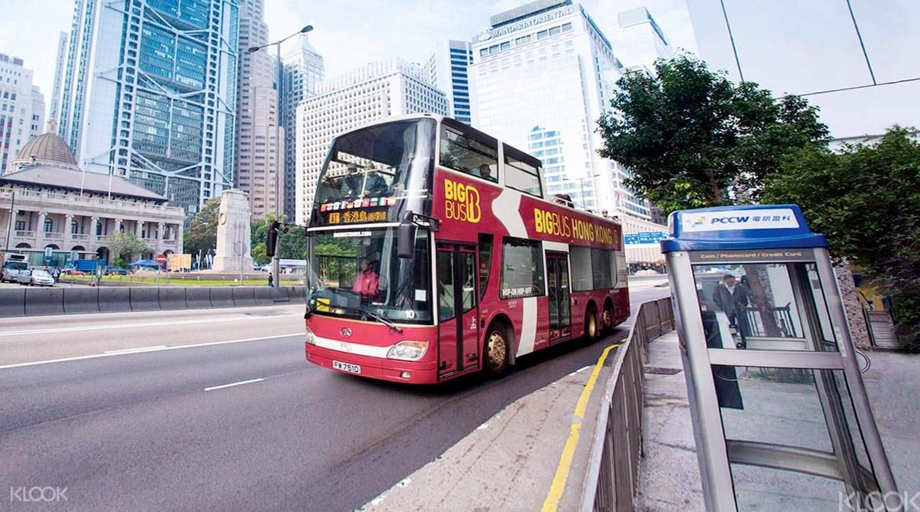 hong kong big red bus