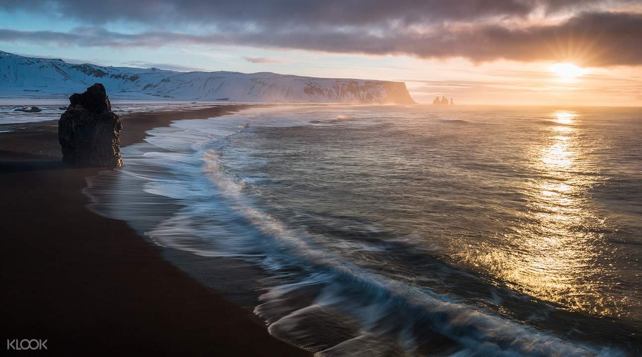 冰岛南岸观光-黑海滩