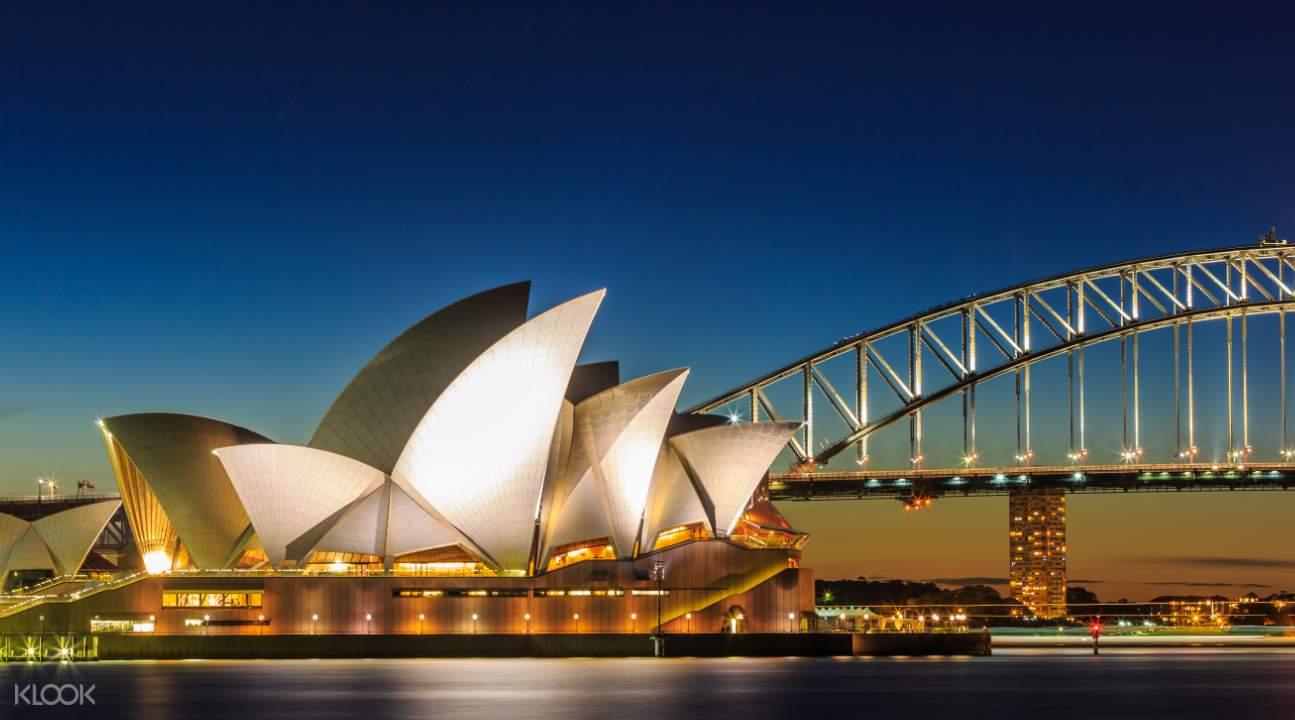 雪梨歌劇院的夜景
