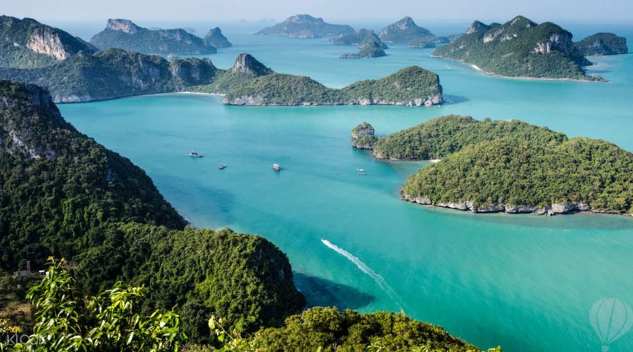 泰国苏梅安通岛美景与海洋探索