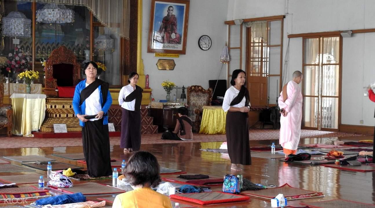 仰光馬哈希禪修中心冥想體驗