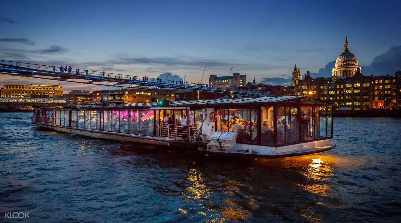 泰晤士河遊船晚餐