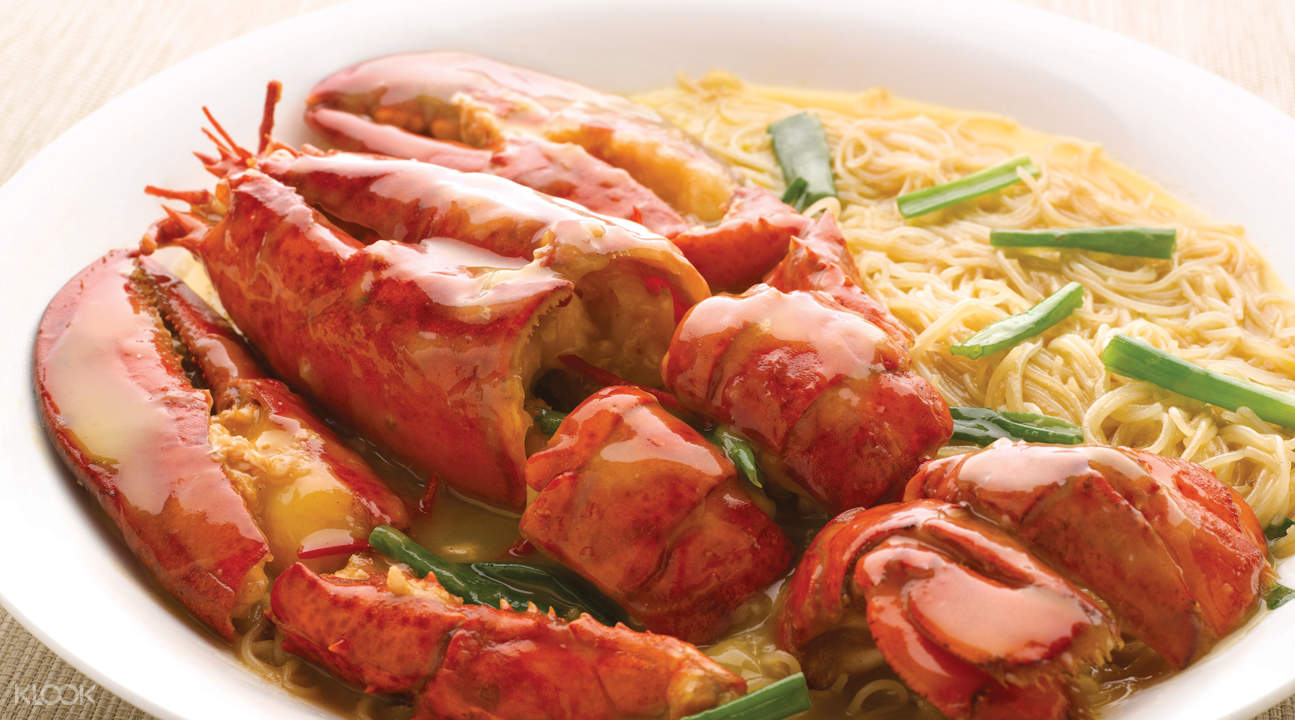 Stewed Boston Lobster Bee Hoon at Majestic Bay Seafood Restaurant in Marina South Pier