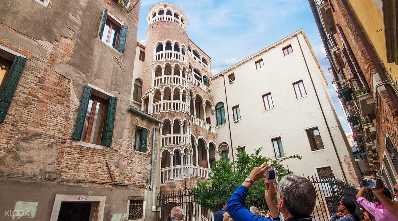 a view of the Scala of the Bovolo