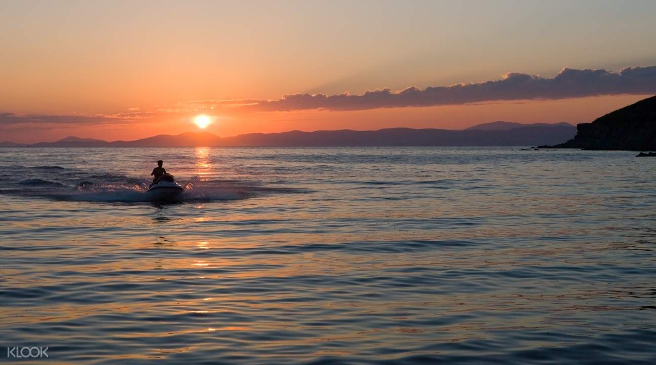 Gold Coast jet ski sunset