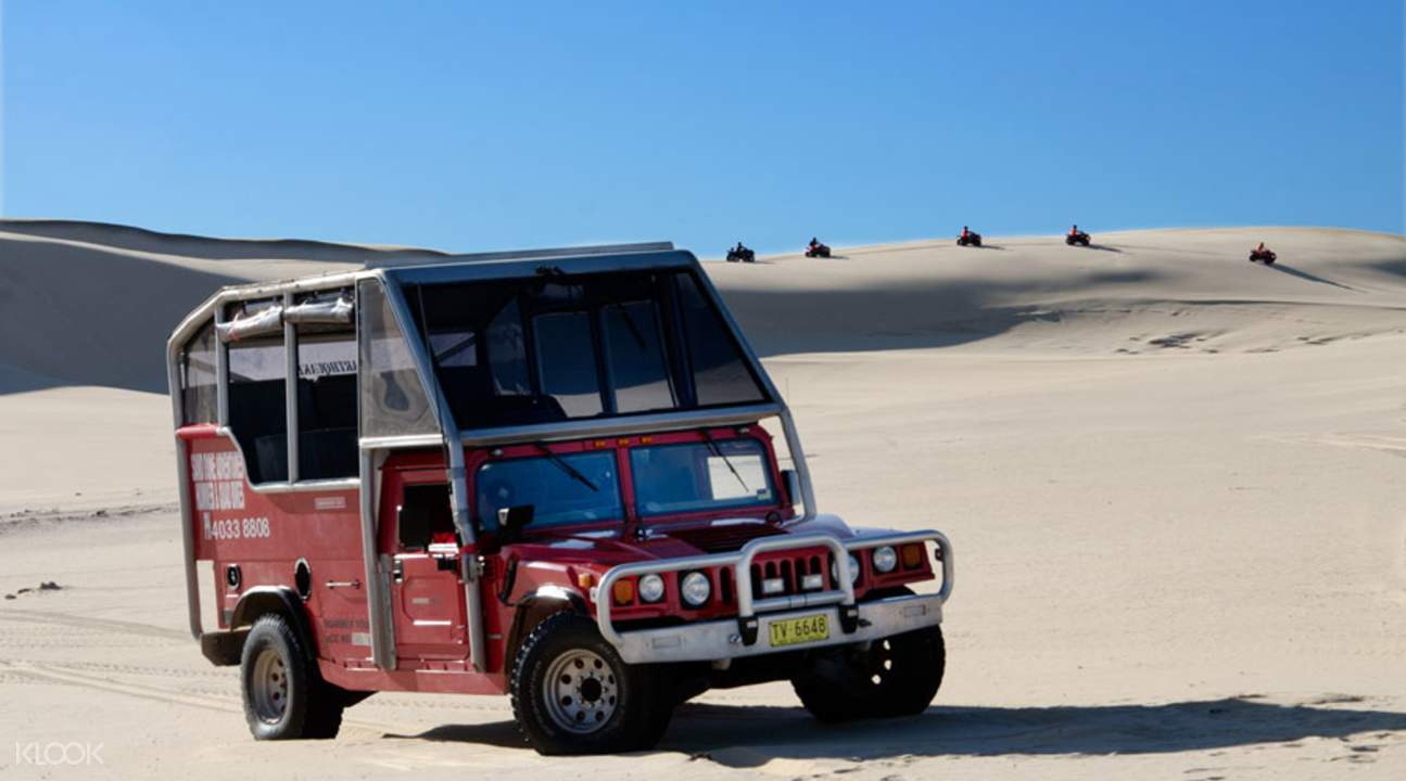 sand dunes tour in port stephens
