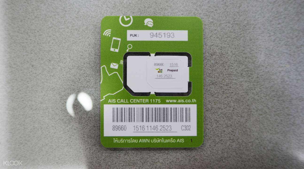 3g 4g Sim Card Bangkok Airports Pick Up For Thailand Klook