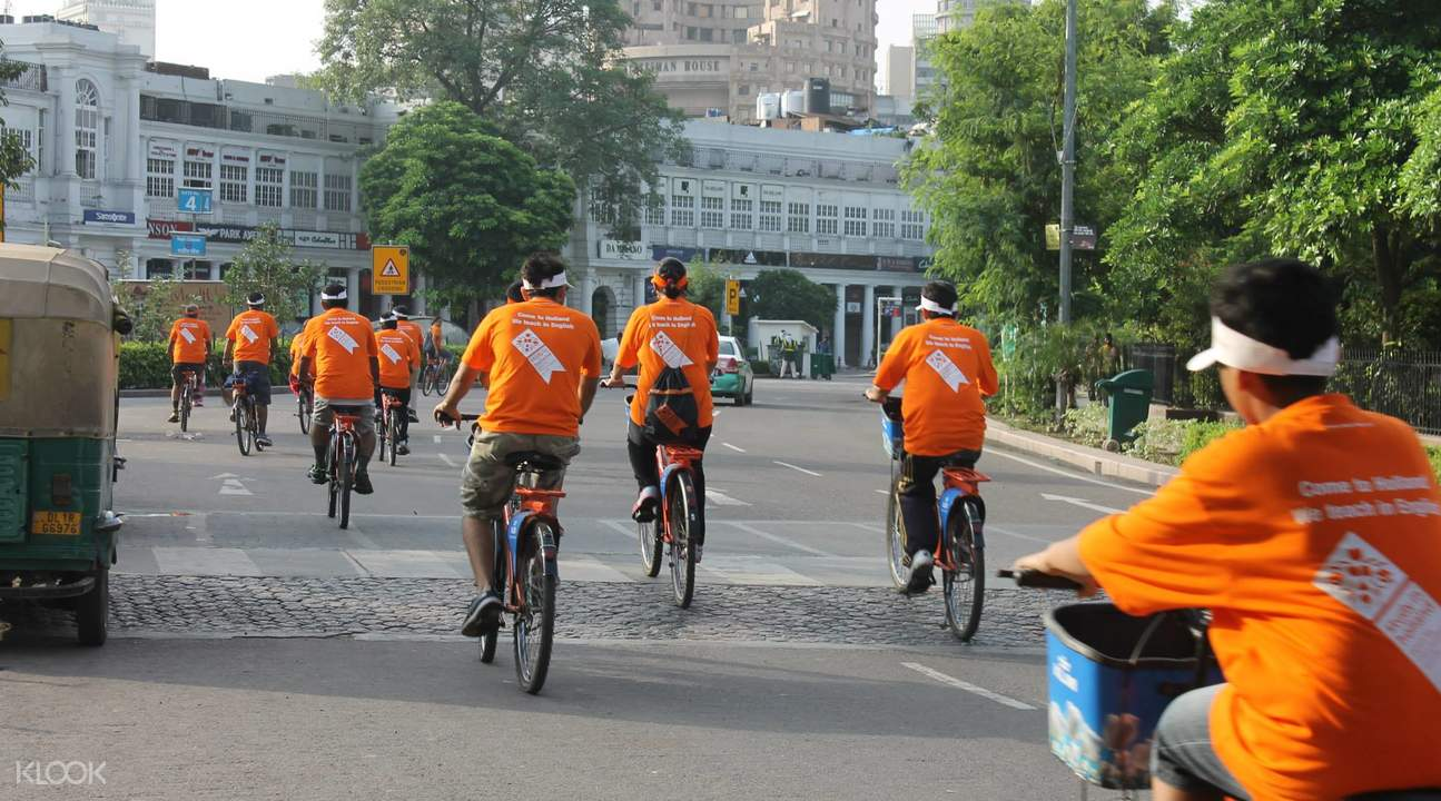 new delhi morning cycling tour