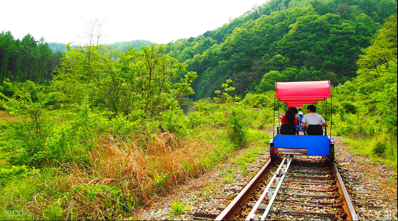 Gangchon rail bike track