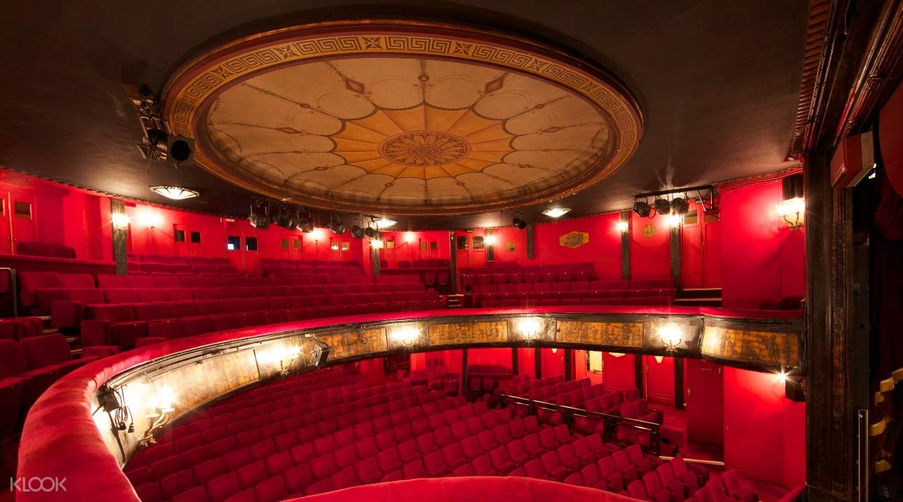 The show is staged inside a decades-old theater house called the Théâtre des Nouveautés