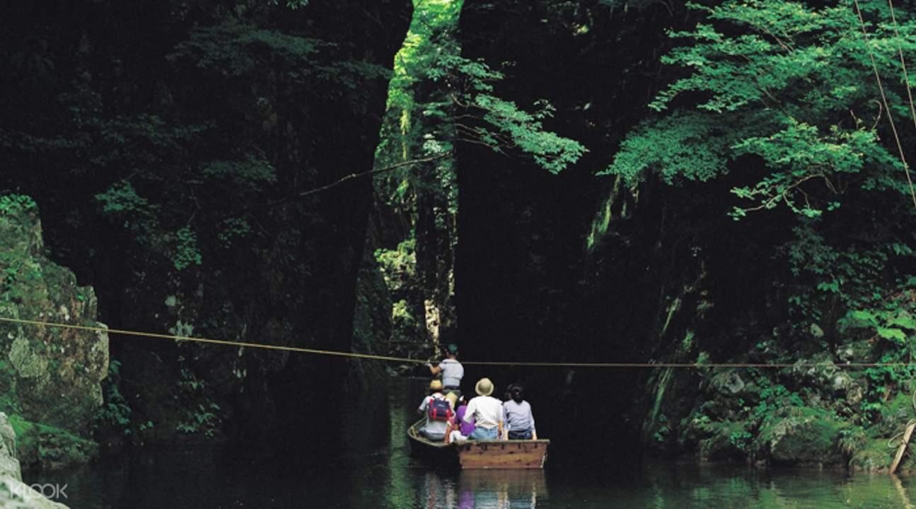 广岛三段峡猿飞渡舟