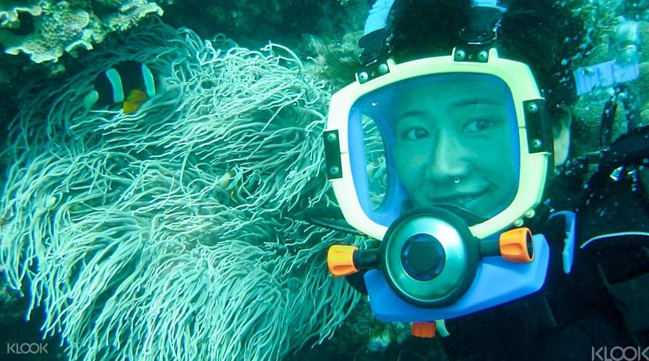 'Slow' scuba diving activity