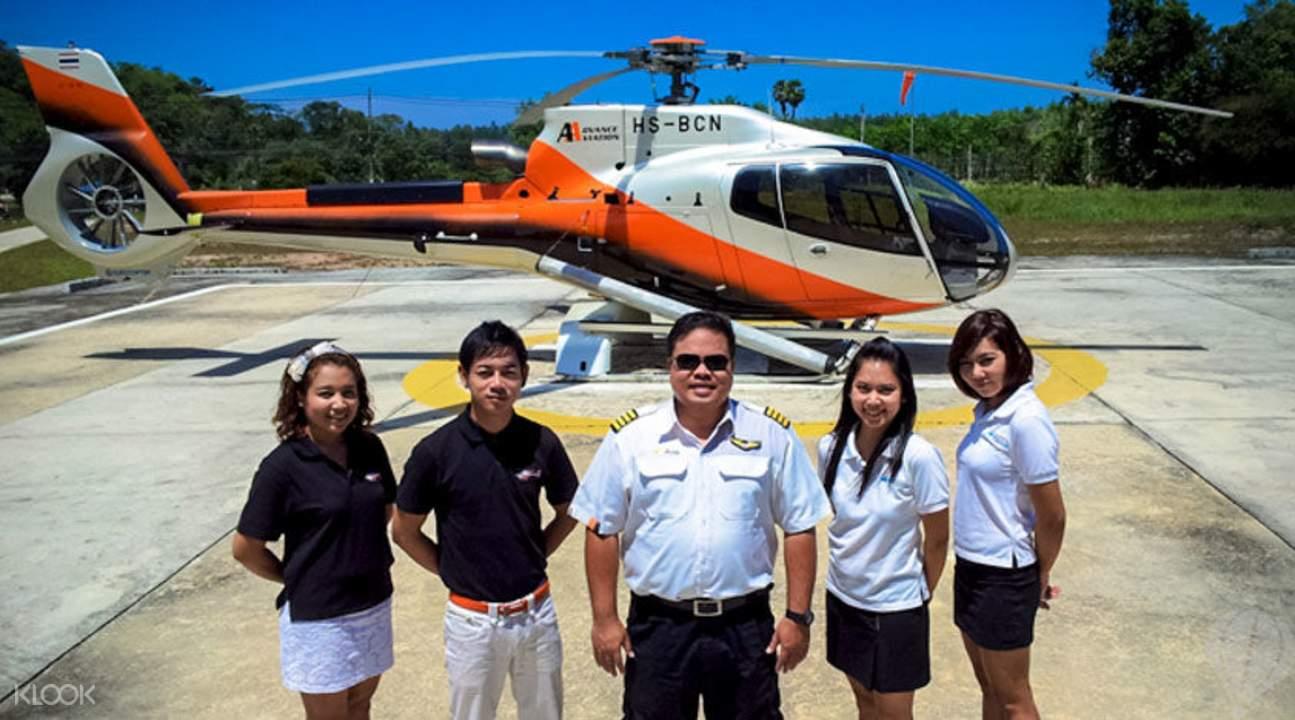 私人直升機俯瞰普吉島