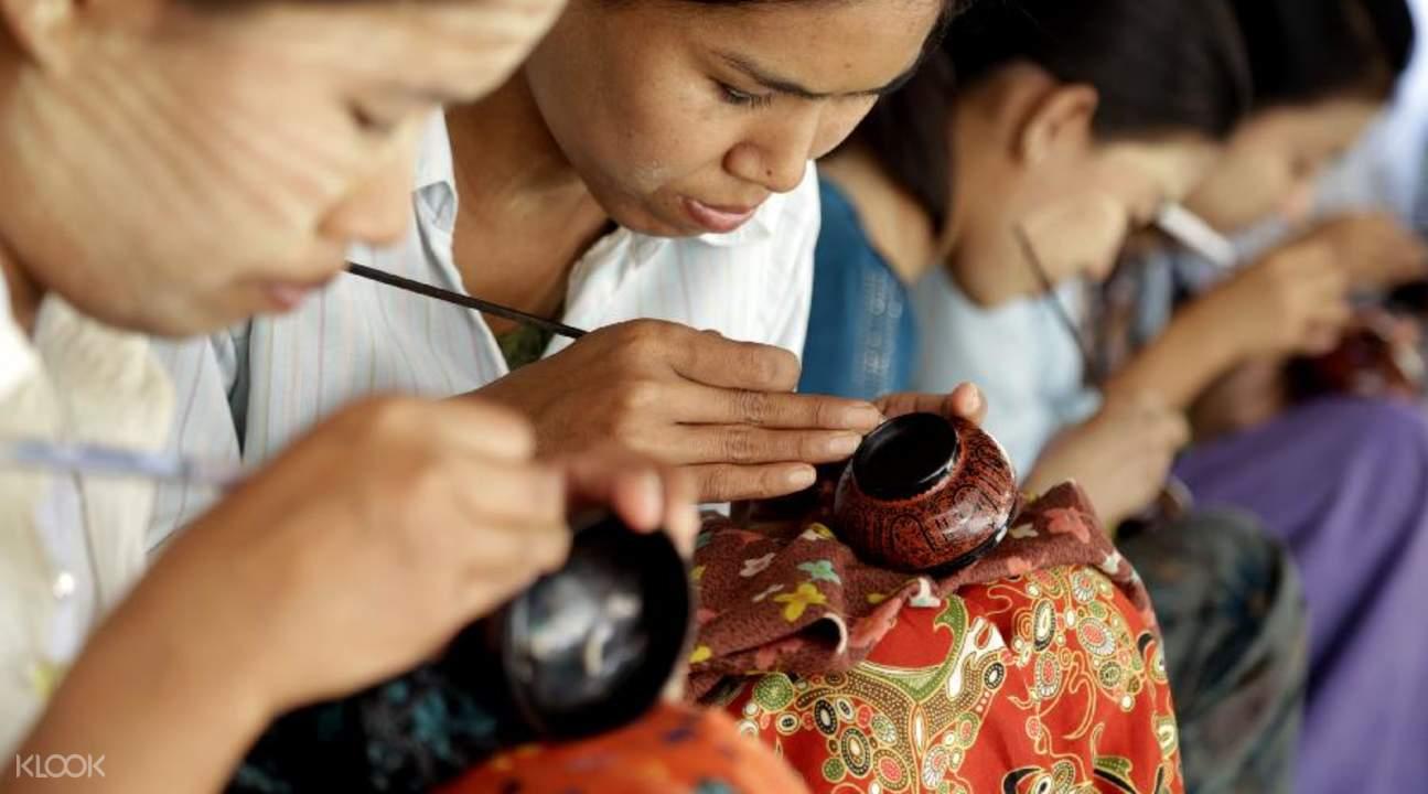 lacquerware class in bagan