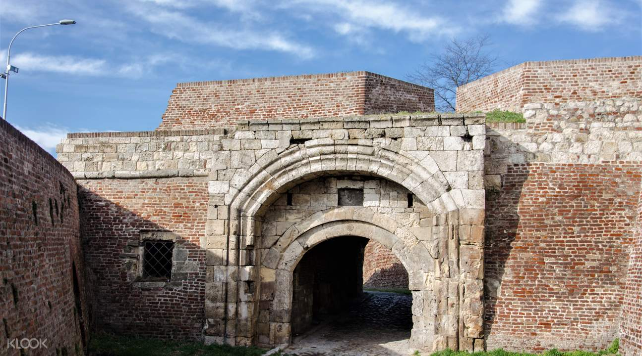 Tunnel through Old Medieval Fortress called Kalemegdan in Belgrade, Serbia