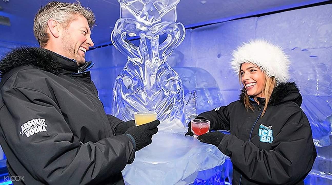皇后镇零下5度冰吧冰雕