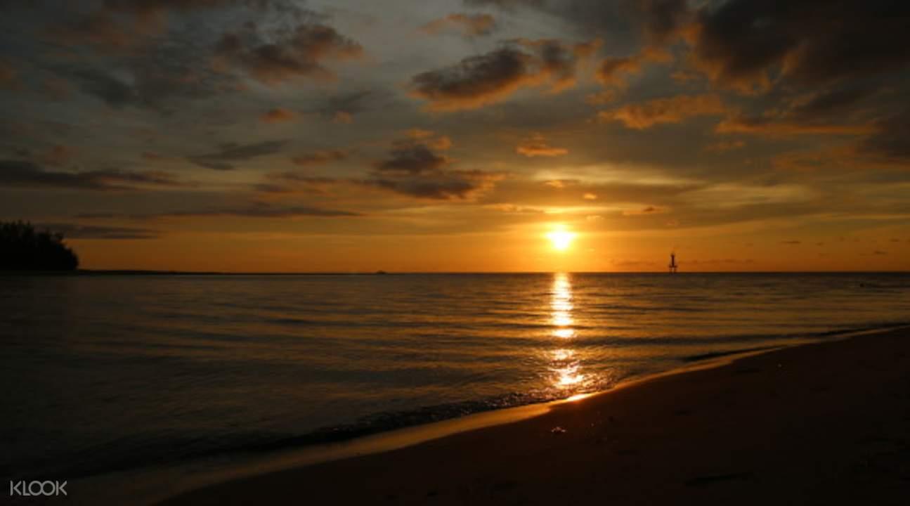 马努干岛夕阳