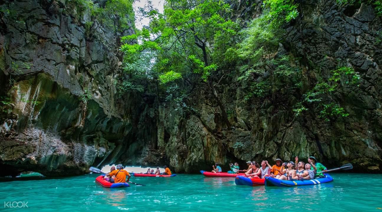 people kayaking on hong island