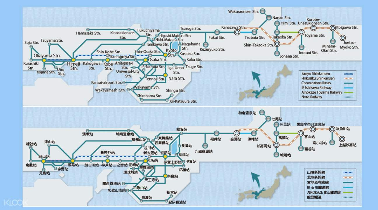 JR Kansai Hokuriku map