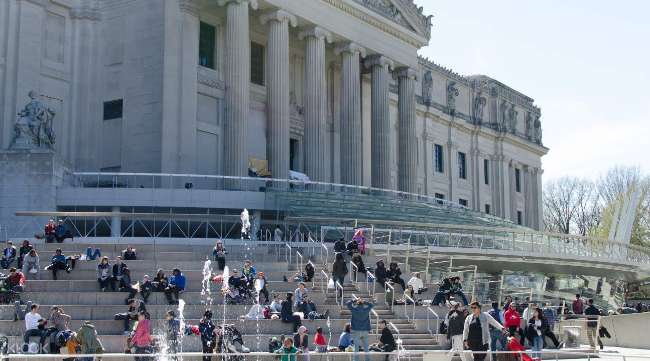 the steps of the Brooklyn Museum