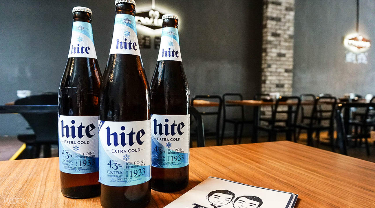 hite beer Twins Korean Restaurant in Tanjong Pagar