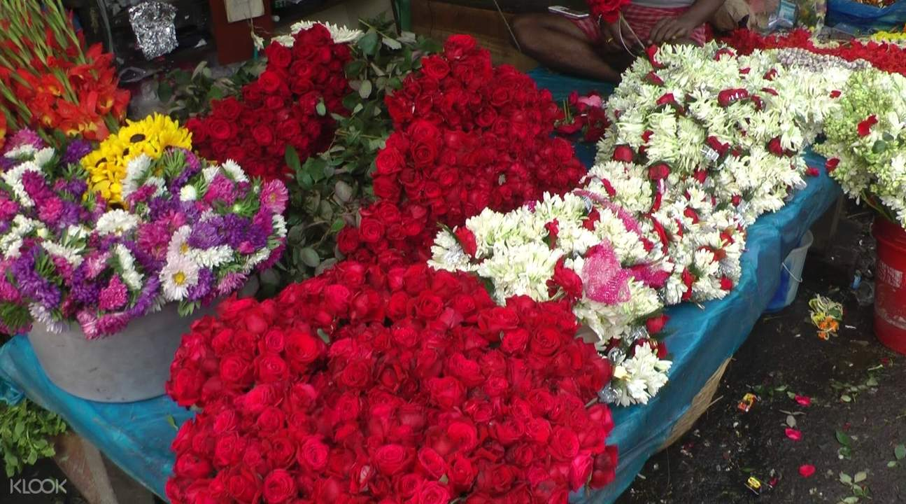 walking tour kolkata flower market