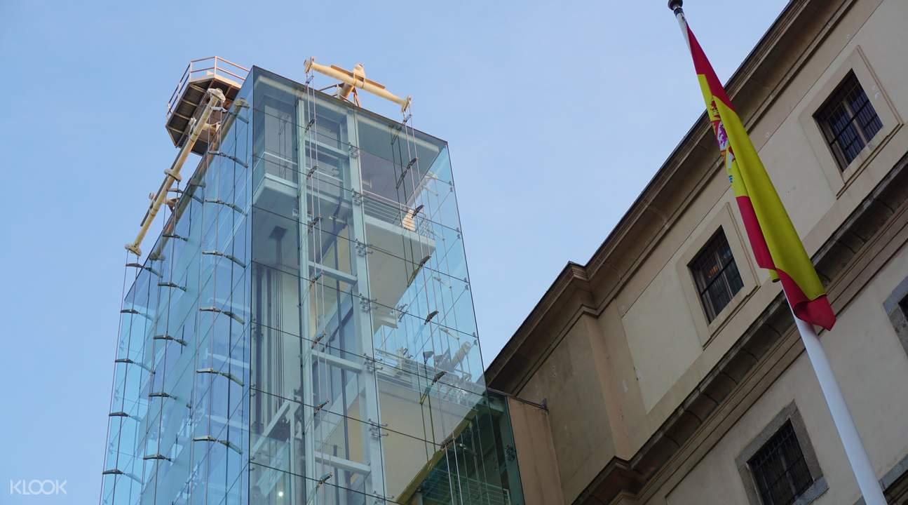 索菲娅王后国家艺术中心博物馆玻璃电梯