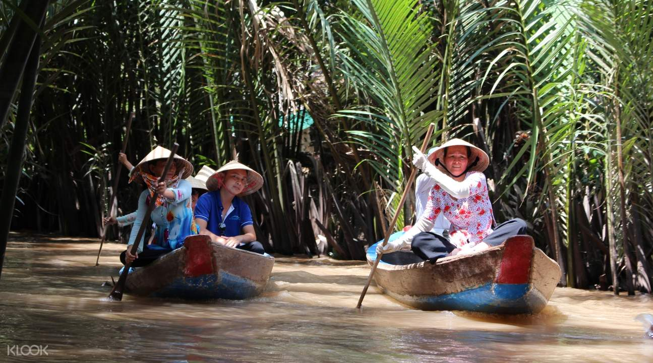 Hop on a small boat and go rowing around the small nipa canals in the area